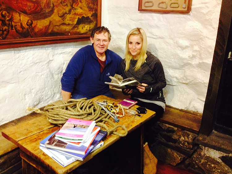 Bill Birkett and Helen Skelton from the BBC Countryfile team