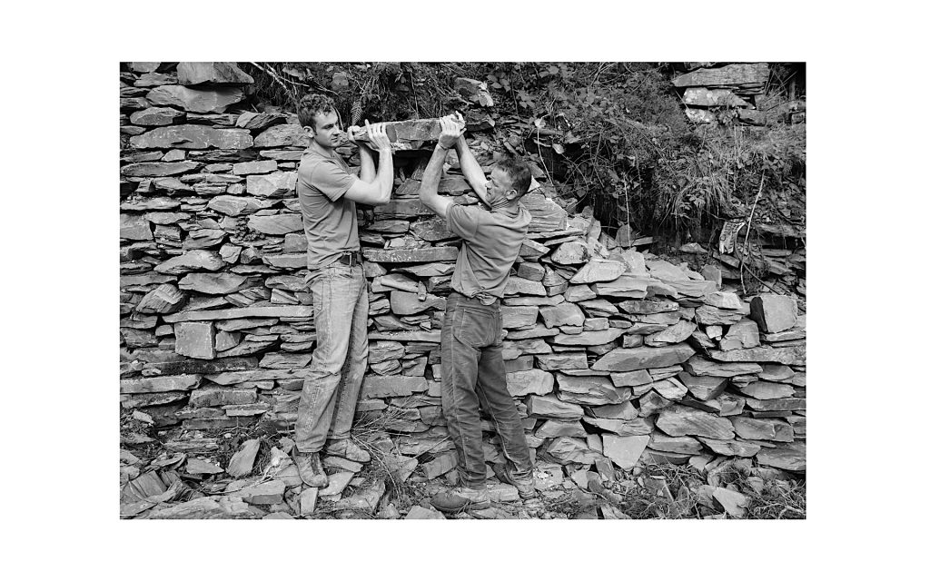 Will, apprentice, and Dave Birkett, master, are to be found most week days working with stone amongst the Lakeland Fells. Weekends they are out climbing. Dave Birkett is one of the foremost adventure rock climber's in the world.