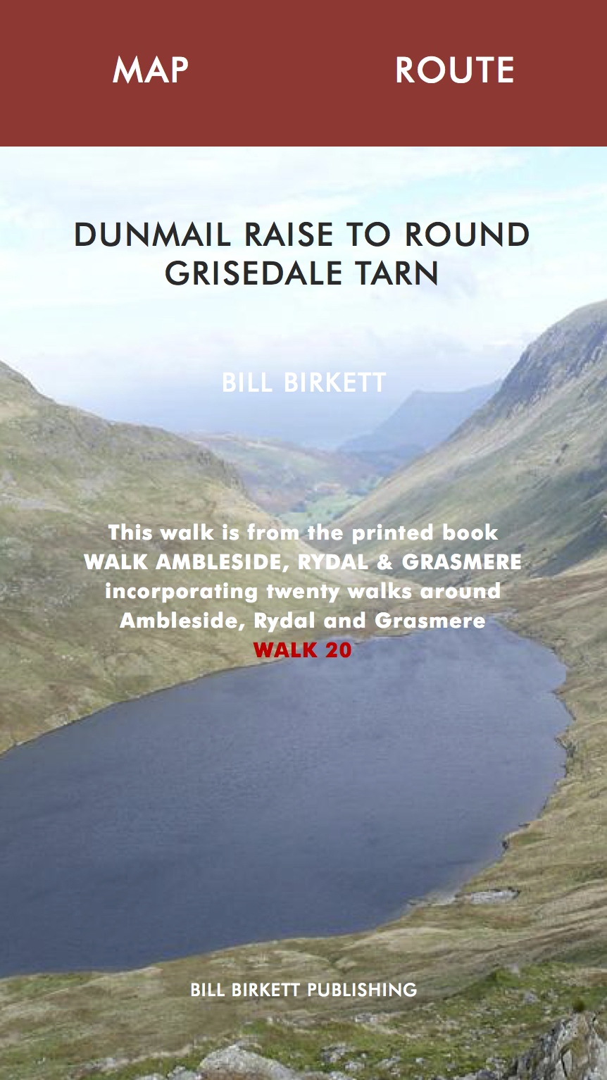 DUNMAIL RAISE TO ROUND GRISEDALE TARN