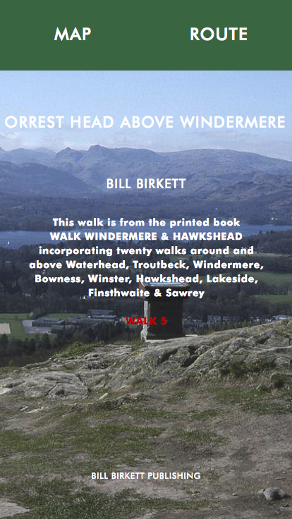 ORREST HEAD ABOVE WINDERMERE