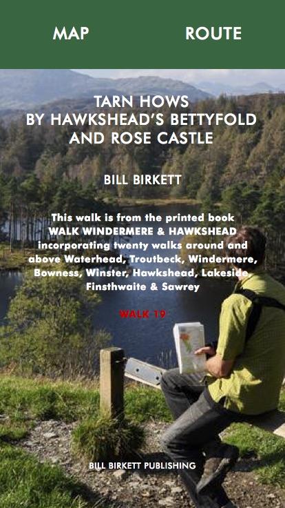 TARN HOWS BY HAWKSHEAD'S BETTYFOLD AND ROSE CASTLE- Bill Birketts Lakeland Walks