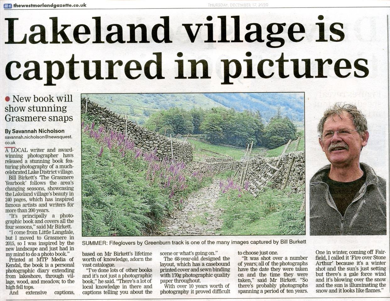 Bill Birkett Westomrland gazette