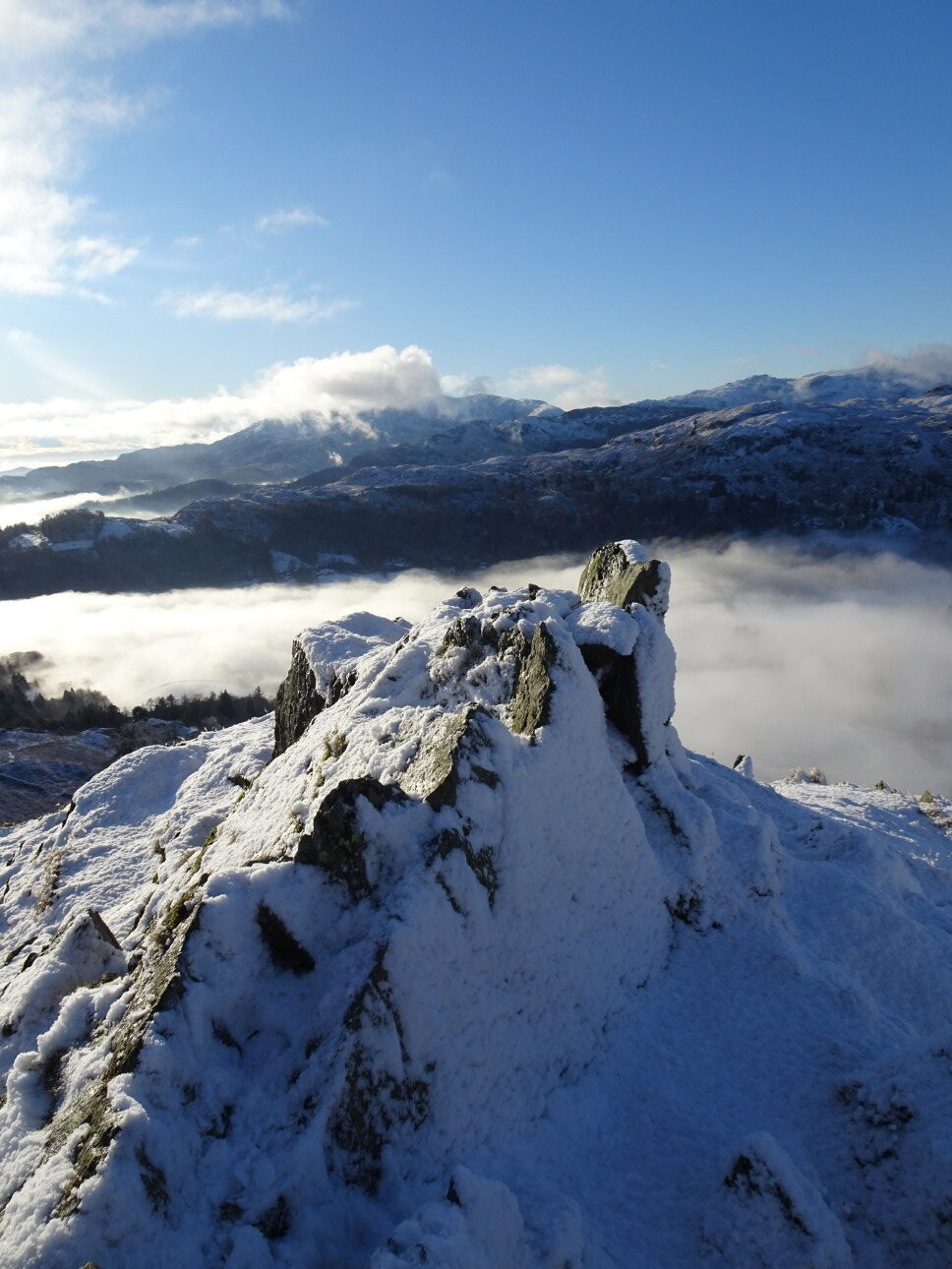 The top rocks of Butter Crags – the destination of the famous Grasmere Sports Senior Guides Race. Taken at 1:59pm.