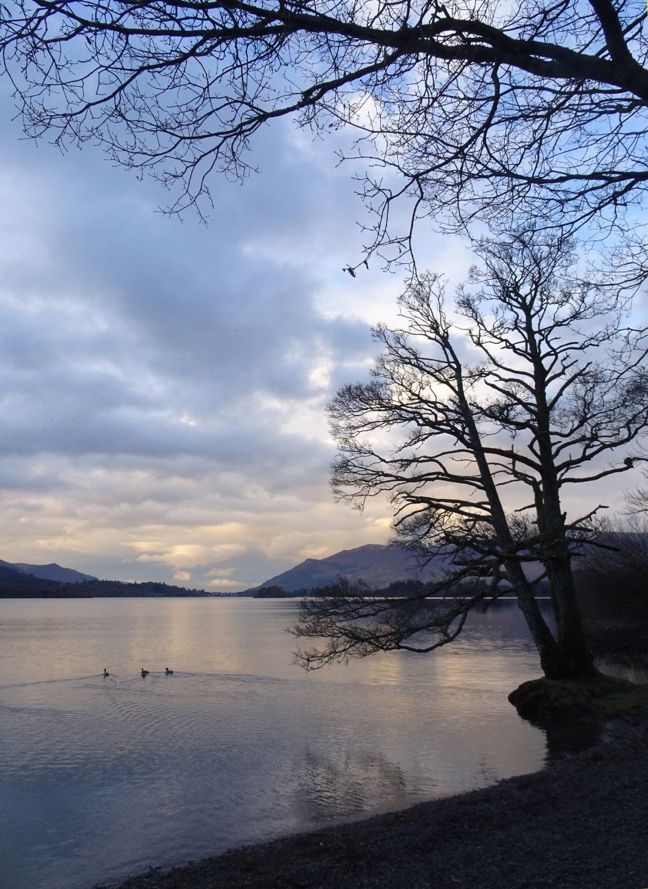 Down Derwentwater with the light dimming fast. Taken at 5:29pm.