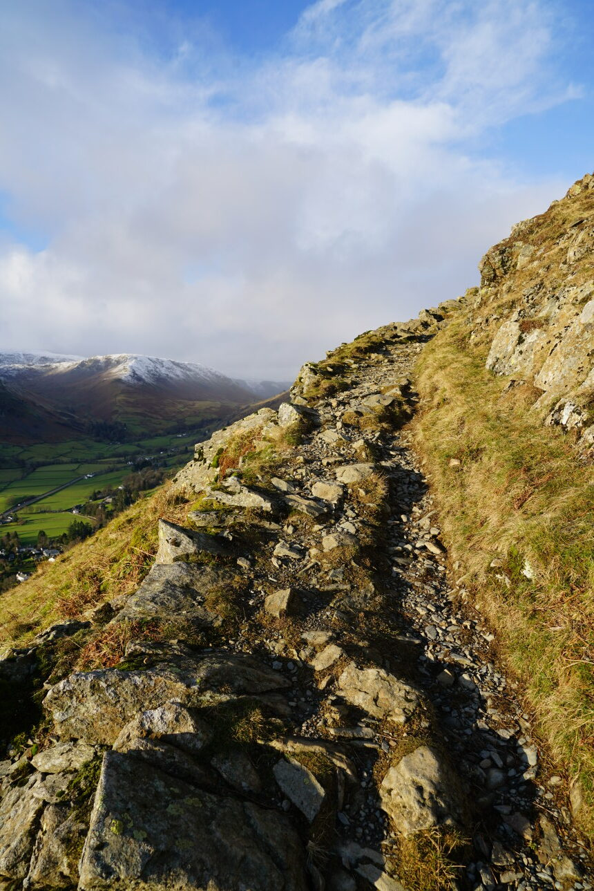 Stairway to heaven: path below Butter Crags. Taken at 2:47pm.