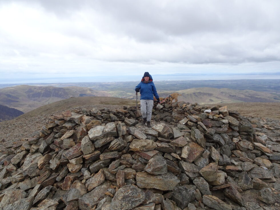 SUMMIT CAIRN WITH THE SOLWAY BEHIND | Taken at 14:36.