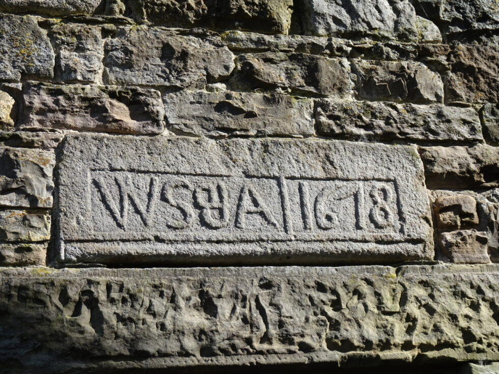 17th C date plaque Fell Side