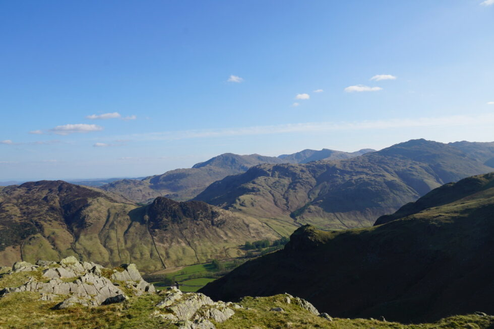 Looking from the top of Tarn Crag