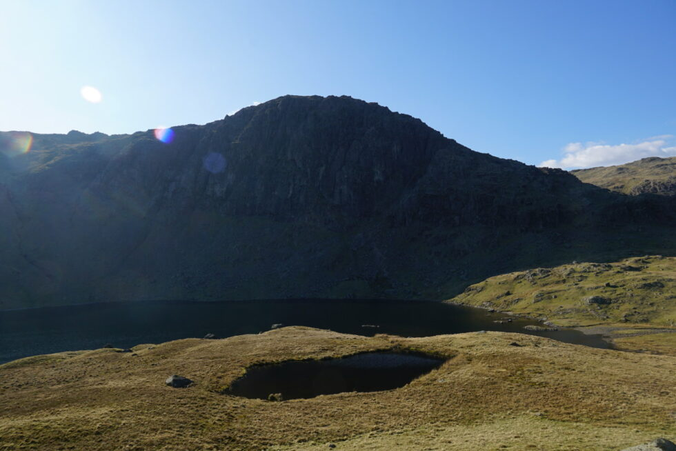 Over two tarns to Pavey Ark